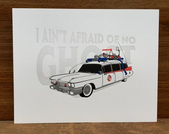 "Ghostbusters Ecto-1 - 11x14"" Letterpress Poster"