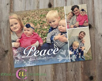 Family Holiday Card - Peace