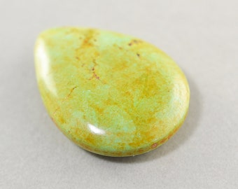 Aqua Golden Brown Stone Pendant, Large Stone Pendant, 40mm