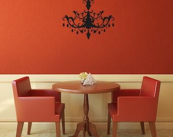 Kronleuchter Silhouette - Wandkunst Aufkleber benutzerdefinierte Vinyl Aufkleber