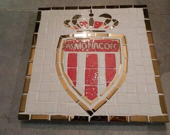 Trivet As Monaco Fc mosaic red, white gold