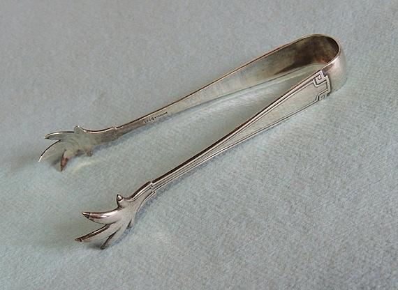 Antique Sterling Silver Sugar Tongs.. Gorham Etruscan 1913.. Old Mark