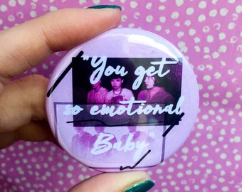 You Get So Emotional Baby Pocket Mirror Bikini Kill inspired punk riot grrrl