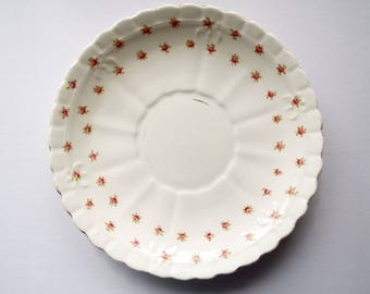 Vintage Sandwich Plate Or Large Cake Plate By Royal Albert. Edwardian Cake Plate or Serving Platter With Pink Roses. Perfect For A Tea Party