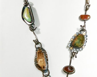 Sterling Silver, 22K Gold, Ocean Jasper With Drusy, and much more~