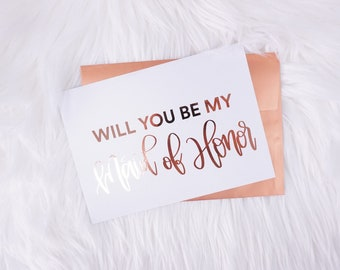 Will You Be My Maid of Honor Card Will You Be My Bridesmaid Card Will You Be My Maid of Honor Proposal