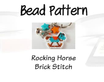 Bead Pattern - Rocking Horse, Brick Stitch | Digital Download