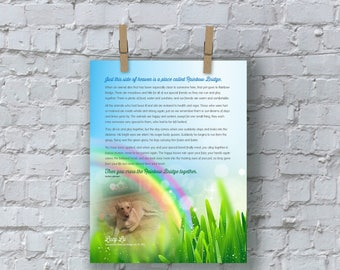 Customized Rainbow Bridge Graphic w/ Photo (Square)