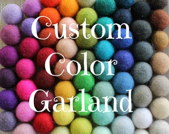 Custom Felt Ball Garland, Custom Pom Pom Garland, Nursery Decor, Custom Felt Garland, Felt Ball Bunting, Baby Shower Decor, Custom Pom Poms
