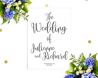Printable Wedding Program-Chic Calligraphy Wedding Ceremony Order-DIY Affordable Wedding Programs-Rustic Wedding Programs-Ceremony Program