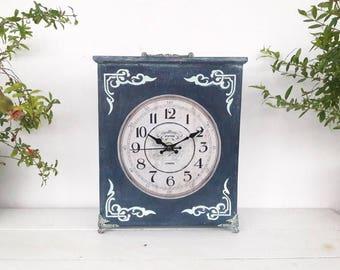 READY TO SHIP Table Clock Shabby Home Decor Handmade Small clock housewarming gift