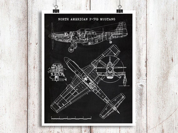 P 51 mustang aircraft blueprint instant download chalkboard p 51 mustang aircraft blueprint instant download chalkboard north american mustang p 51 mustang art aviation art 8x10 11x14 16x20 malvernweather Choice Image