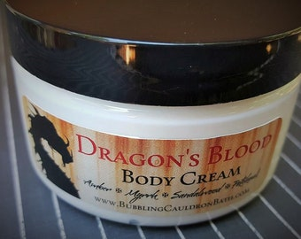 Dragon's Blood Body Cream - Amber Lotion - Myrrh Lotion  - Lotion For Men - Sandalwood Cream - Patchouli Cream - Goth Lotion