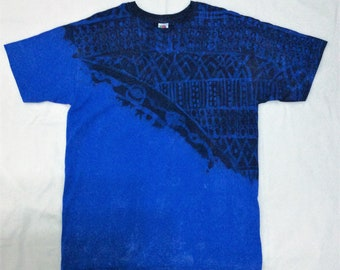 Blue Tie Dye T-shirt Hipster Indie Fashion