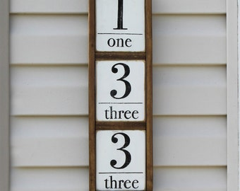 Farmhouse Style Framed Exterior House Numbers | Framed House Numbers | Exterior House Numbers |  House Numbers | Traditional House Numbers