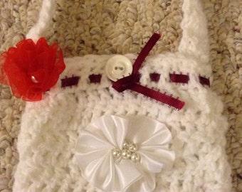 Girl Purse, White Purse, Crochet Purse, Purse, Birthday Gift