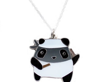 Ninja Panda Necklace