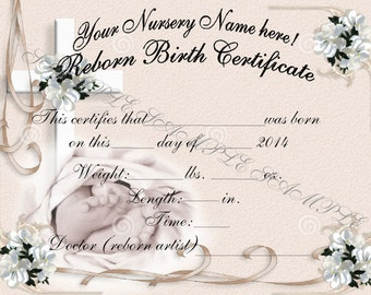 Reborn birth certificates your custom nursery name 5 reborn birth certificates your custom nursery name 5 certificates yadclub Image collections