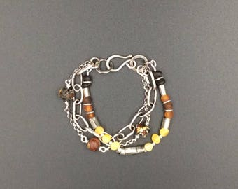 Baltic Amber with Sterling Silver Bracelet