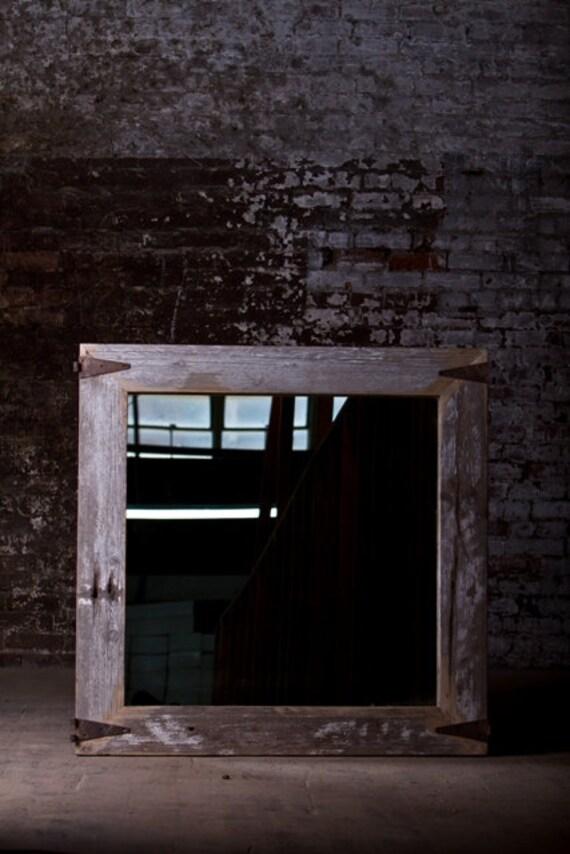 Barn Wood Mirror Rustic Home Decor: Items Similar To Barn Wood Mirror On Etsy