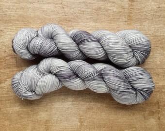 Storm Grey MCN sock yarn - SW Merino/Cashmere/Nylon  (400 yards) fingering weight