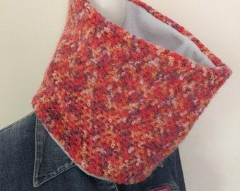 Cowl, neck warmer, infinity scarf, crochet, ready to ship, wool blend