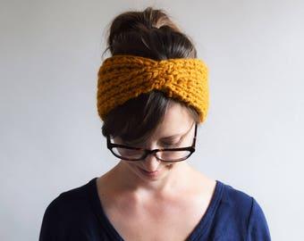 Knit Headband Pattern // Headband Knitting Pattern // Chunky Headband Pattern // Turban Headband Pattern