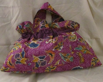 Material Cloth Purse Multi-Color