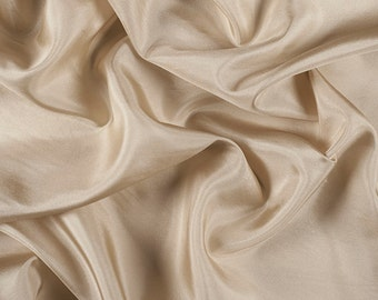 """45"""" Wide 100% Silk Habotai Antique Gold-Wholesale by the Yard (2000M177)"""