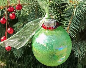 Crystal & glitter ornament