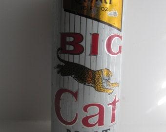1970s Big Cat Malt Liquor Can