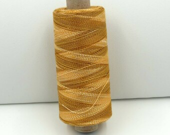 Valdani Unique Twist Overdyed Cotton-Polyester 40wt Thread: #T Caramel Cream