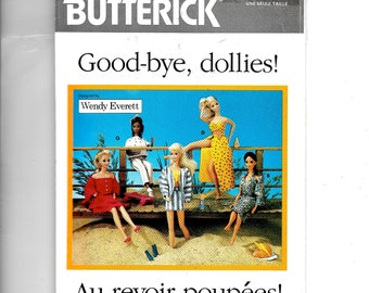 Butterick Fashion Doll Clothes Pattern 6495