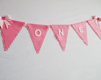 First Birthday Bunting, Custom Banner, Party Bunting, Personalised Bunting, Party Decorations, Birthday Décor, Nursery Decor