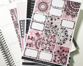 Mandala Glam Main Kit - Collection - Planner Stickers - Erin Condren - No White Space Planning