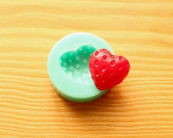 Strawberry Heart Silicone Mold (Green)