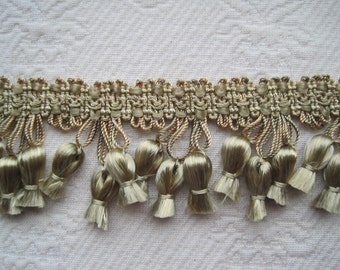 Tassel Trim Satin Pale Green 2 Yards Excellent Quality