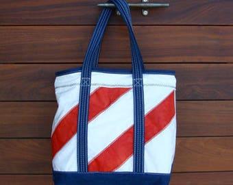 Red Angled Stripe DaySailer Bag