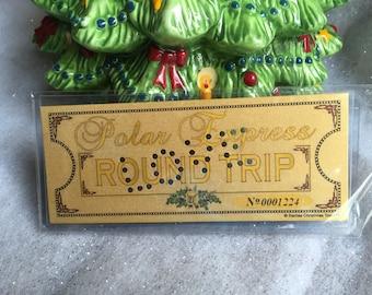 Polar Express 'LOVE' Hole Punched Round Trip Keepsake Ticket