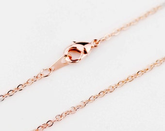 19inch Rosegold Necklace chain, Jewelry Supply, Craft Supplies, Mignon and Mignon Supply CHNL-R
