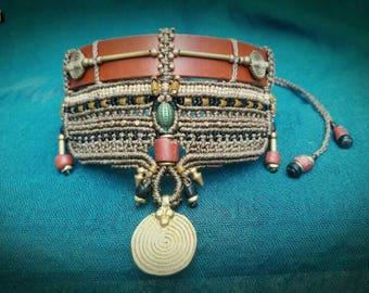 Tribal macramé necklace