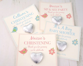 Christening/Baby Shower Gift Favours Christening favors - christening gifts - baby shower gifts - baby shower favours - sip & see favors