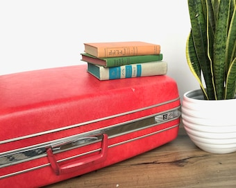 Vintage Suitcase | Extra Large Red Samsonite Suitcase | Vintage Luggage | Home  Decor/Storage