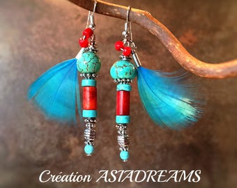 """Earrings ethnic """"Jomsom"""" - Collection """"Stops Nepalese"""" - chic and sophisticated"""