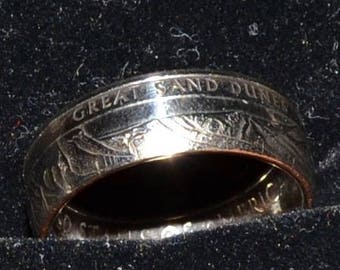 Great Sand Dunes National Park Quarter Coin Ring
