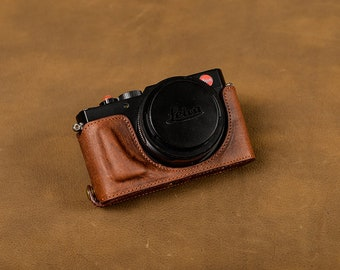 LEICA D-LUX Typ109 109 Handmade Full Half Case Genuine Italian leather insert Camera bag Removable Cover HandGrip Protector Holster sleeve
