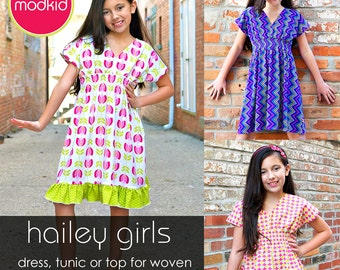 Hailey Girls PDF Downloadable Pattern by MODKID... sizes 2T to 10 Girls included - Instant Download