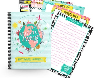 Kid's Travel Journal 1 Week INSTANT DOWNLOAD, Road trip, Kids Activity,Travel Diary, Family Travel, Travel Notebook, Kids travel journal,