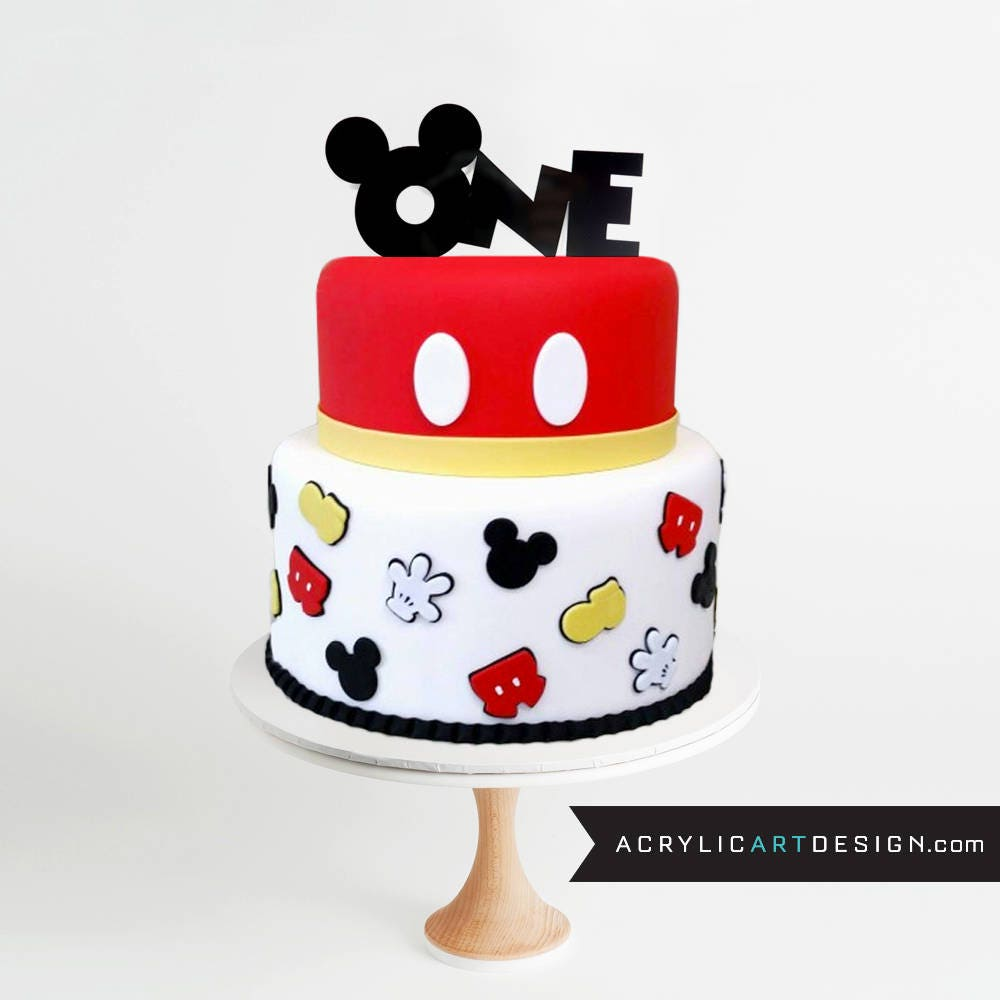 Pictures Of Happy First Birthday Mickey Mouse Cake
