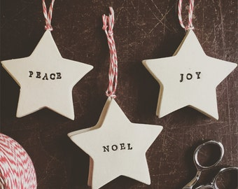 Star Sentiment Pottery Ornament
